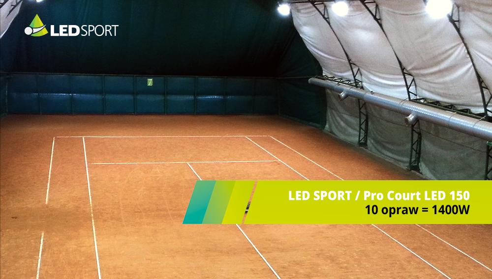 LEDSport Oprawy LED ProCourt150 Oświetlenie LEDowe TENIS