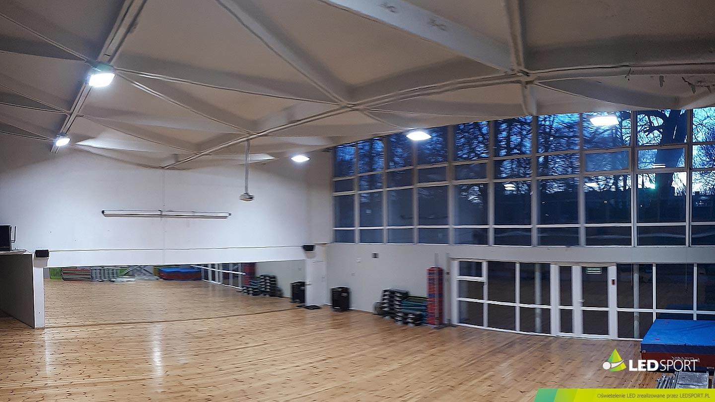 LEDSport Oświetlenie LED / Sala Fitness AZS-AWF Warszawa