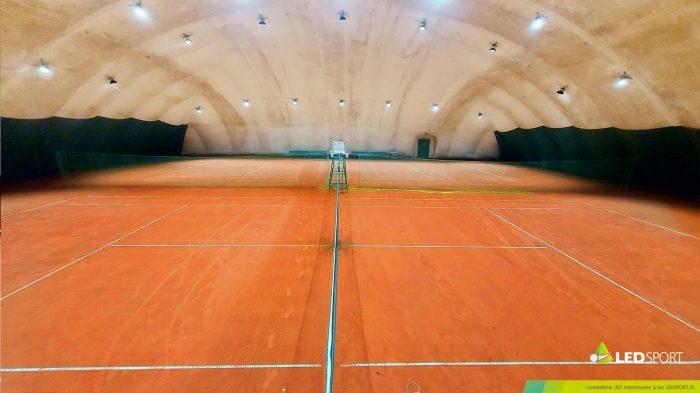 LEDSport Oświetlenie LED korty tenisowe Olszynka Grochowska Hala Pneumatyczna/ Balon